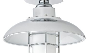 Argos Home Kildare Fisherman Lantern Bathroom Light - Nickle