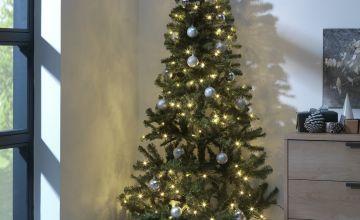 Argos Home 6ft Pre-Lit Half Christmas Tree - Green