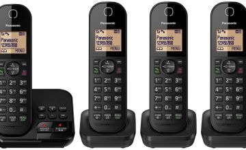 Panasonic Cordless Telephone with Answer Machine - Quad