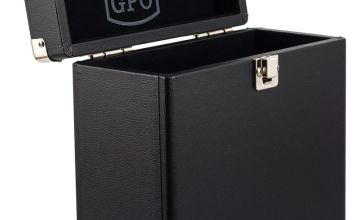 GPO 7 Inch Vinyl Case - Black.