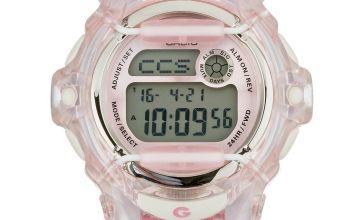Casio Baby-G Pink Coloured Resin Strap Watch