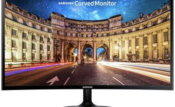 Samsung C24F390 24 Inch 60Hz FHD Curved LED Monitor - Black