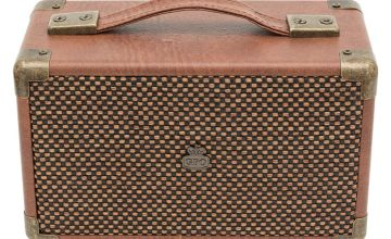 GPO Westwood Mini Wireless Speaker - Brown.