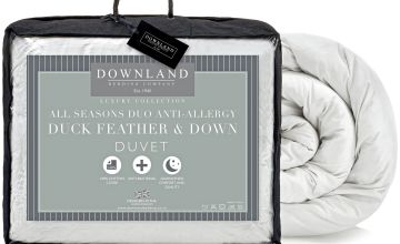 Downland Duck Feather Down Anti-Allergy 15 Tog Duvet