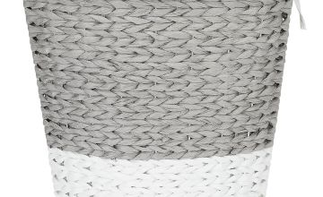 Argos Home 45 Litre Corner Rope Laundry Bin - Grey and White