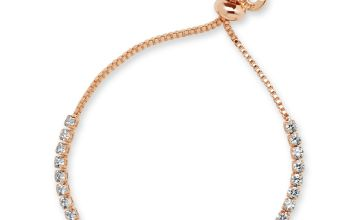 Anne Klein Rose Gold Colour Halo Friendship Bracelet