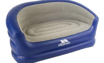 Trespass Flocked Double PVC Inflatable Sofa