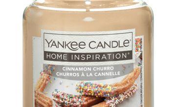 Home Inspiration Large Jar Candle - Cinnamon Churro