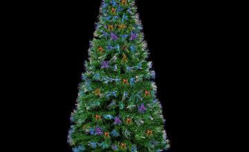 Premier Decorations Fibre Optic LED Burst Tree - Multi