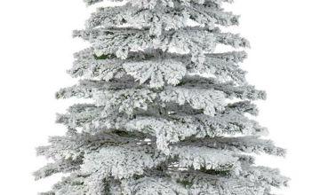 Premier Decorations 6ft Flocked Mountain Pine Christmas Tree