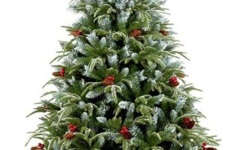 Premier Decorations 6ft Frosted Spruce Christmas Tree -Green