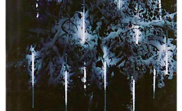 Premier Decorations 15 LED Shower Christmas Lights - White