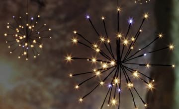 4 Piece Brown LED Sparkle Ball Lights - Warm White.