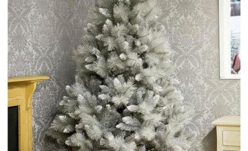Premier Decorations 6ft Silver Tip Fir Christmas Tree - Grey