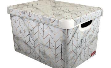 Curver Plastic Deco Box - Marble