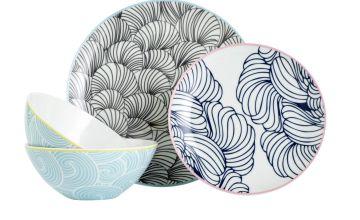 Argos Home Oriental 12 Piece Dinner Set