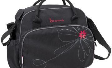 Badabulle Vintage Changing Bag - Black/Pink.