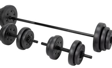 Opti Vinyl Barbell and Dumbbell Set - 35kg
