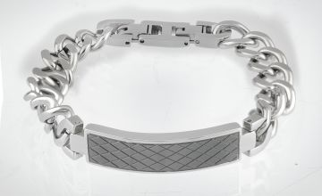 Revere Men's Stainless Steel Chain Bracelet