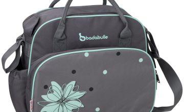 Badabulle Vintage Changing Bag - Grey/Blue.
