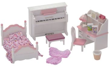 Sylvanian Families Girl's Bedroom Set.