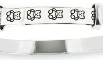 Revere Kid's Sterling Silver Teddy Bangle - 0-18 Months