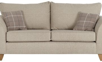 Argos Home Kayla 3 Seater Fabric Sofa - Beige