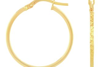 Revere 9ct Gold Diamond Cut Creole Hoop Earrings
