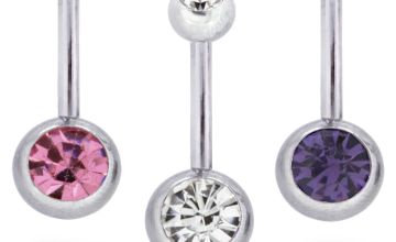 State of Mine Cubic Zirconia Belly Bars - Set of 3