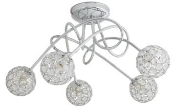 Argos Home Amelia 5 Light Beaded Globes Ceiling Light