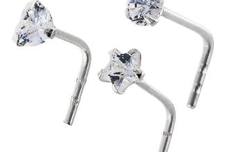 State of Mine Silver Crystal Claw Nose Studs - Set of 3