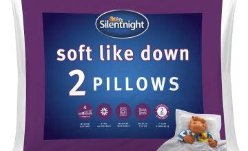 Silentnight Soft Like Down Pillow - 2 Pack