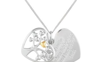 Moon & Back Silver Tree of Life Necklace