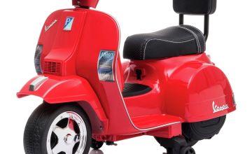 6V Vespa Battery Ride-on - Red