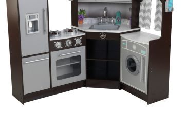 KidKraft Ultimate Corner Lights & Sounds Wooden Play Kitchen