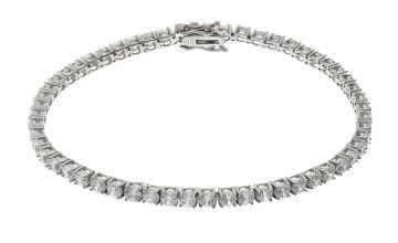 Revere Sterling Silver Cubic Zirconia Tennis Bracelet