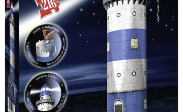Ravensburger Lighthouse-Night Edition,216pc 3D Jigsaw Puzzle