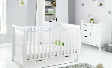 Obaby Stamford Classic Sleigh 3 Piece Nursery Set  - White