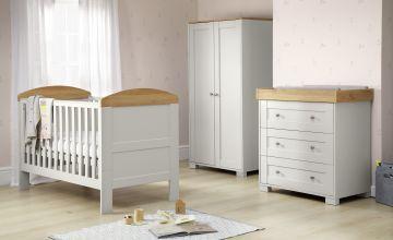 Mamas & Papas Harrow 3 Piece Nursery Furniture Set - Grey