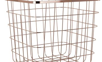 Habitat Flat Wire Squares Plus Storage Baskets -Rose Gold
