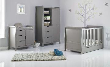 Obaby Stamford Classic Sleigh 3 Piece Nursery Set-Taupe Grey