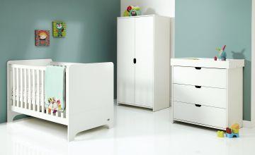 Mamas & Papas Rocco 3 Piece Nursery Furniture Set - White