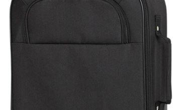 Simple Value Soft 2 Wheeled Suitcase - Black