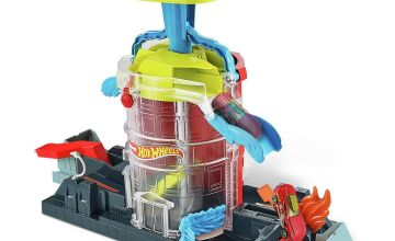Hot Wheels City Fire House Rescue Playset