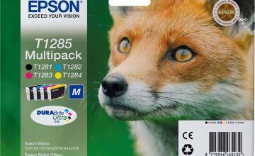 Epson T1285 Fox Ink Cartridges - Black & Colour