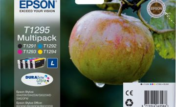 Epson T1295 Apple Ink Cartridges - Black & Colour