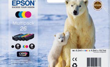 Epson 26 Polar Bear Ink Cartridges - Black & Colour
