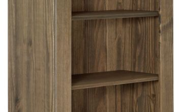 Argos Home Amersham Solid Wood Bookcase - Dark Pine