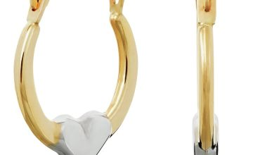 Revere 9ct Yellow Gold Heart Creole Hoop Earrings