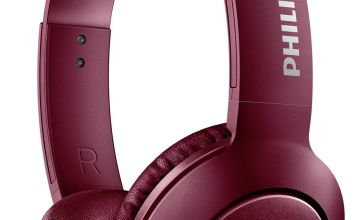 Philips SHB3075 Wireless On-Ear Headphones - Red